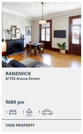 Rental appraisal Randwick NSW 2031