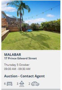 Real estate appraisal Malabar NSW 2036