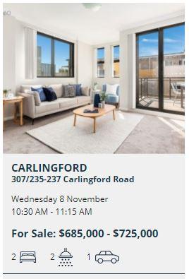 Real estate appraisal Carlingford NSW 2118