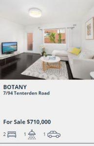 Real estate appraisal Botany NSW 2019