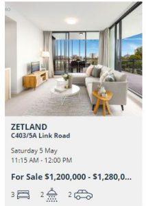 Real estate appraisal Zetland NSW 2017