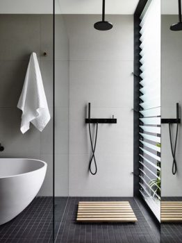 Bathroom matte finishes