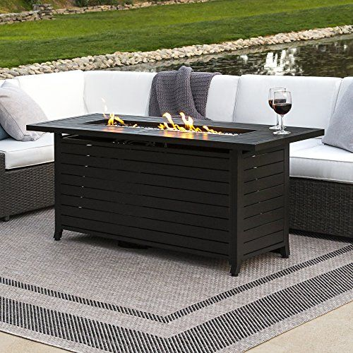 outdoor fire place table