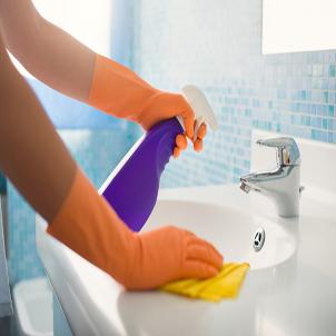 Clean the bathroom