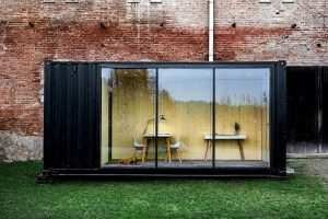 Backyard shipping container offices