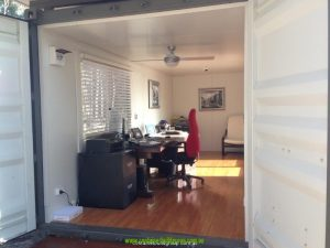 Shipping container home office