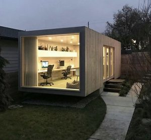 Home office pod container