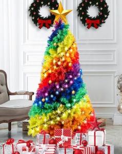 rainbow xmas tree