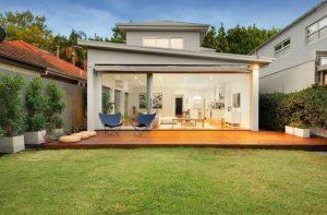 Outdoor backyard decking
